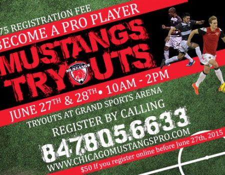 Chicago Mustangs announce tryout dates for pro team