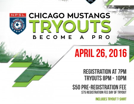 Chicago Mustangs announce second tryout date for NPSL team