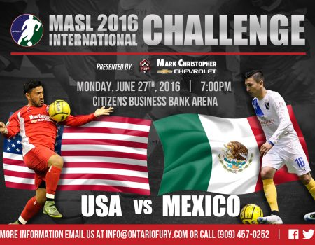 MASL TEAMS SEND PLAYERS TO ONTARIO FOR US-MEXICO CLASH