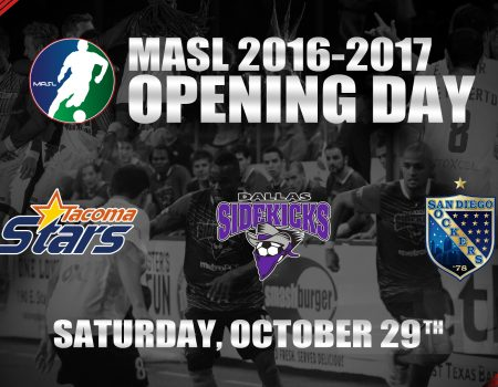 MAJOR ARENA SOCCER LEAGUE ANNOUNCES 2016-17 OPENING WEEKEND